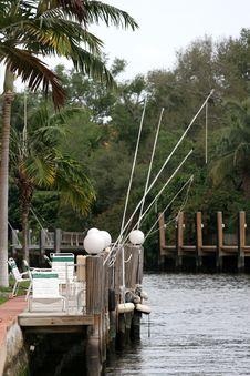 Fishing Poles Stock Image