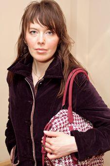 Free Girl With Handbag Stock Photography - 2226382