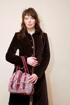 Free Girl With Handbag Royalty Free Stock Image - 2226396