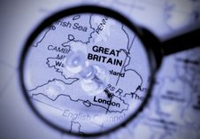 Free London City Marked On The Map Royalty Free Stock Photo - 2226645