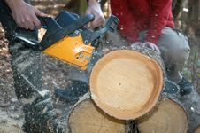 Free Working With Chainsaw Stock Photos - 2227013