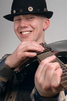 Free The Musician Smiles Royalty Free Stock Photos - 2227518