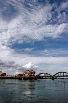 Free Draw Bridge With Clouds Stock Photography - 2229682