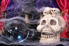 Free Skull And Crystal Ball Stock Image - 2229991
