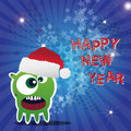 Free Happy New Year Card With Monster Stock Image - 22200521