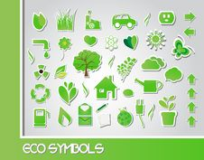 Free Eco Symbols Royalty Free Stock Photo - 22200235