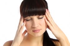 Free Young Attractive Woman With An Awful Migraine Royalty Free Stock Photo - 22200675