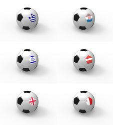 Euro 2012, Soccer Ball With Flag - Group F Royalty Free Stock Photo