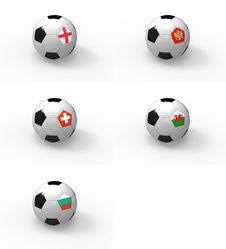 Free Euro 2012, Soccer Ball With Flag - Group G Royalty Free Stock Images - 22203269