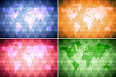 Free Collection World Map Background Royalty Free Stock Photos - 22206138