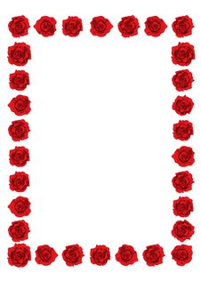 Free Red Roses Frame Stock Photo - 22208400