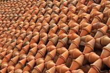 Free Thousands Of Baked Clay Pots Lining Up As A Garden Royalty Free Stock Photos - 22208798