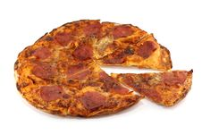 Free Very Crispy Home-made Pepperoni Pizza Royalty Free Stock Image - 22209536