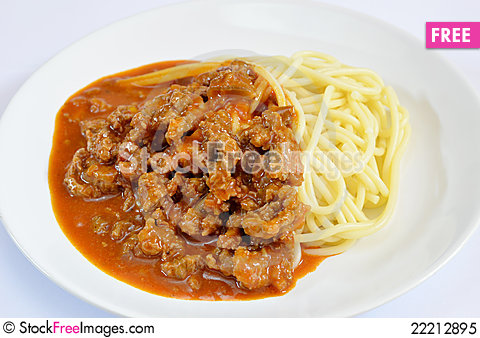Free Spaghetti Royalty Free Stock Photo - 22212895