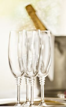 Free Shinny Glasses Of Champagne Stock Image - 22210191