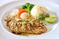 Free Fish Steak Royalty Free Stock Photo - 22210555