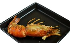 Free Grilled Prawns Royalty Free Stock Images - 22212869