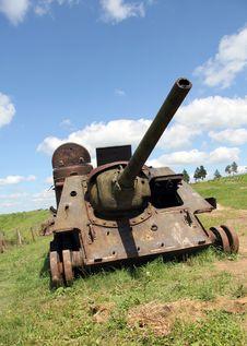 Rusty War And Peaceful Sky Stock Photos