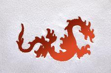 Free Fiery Dragon On A Frozen Window. Royalty Free Stock Photo - 22216135