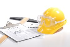 Hard Hat On White Stock Photography
