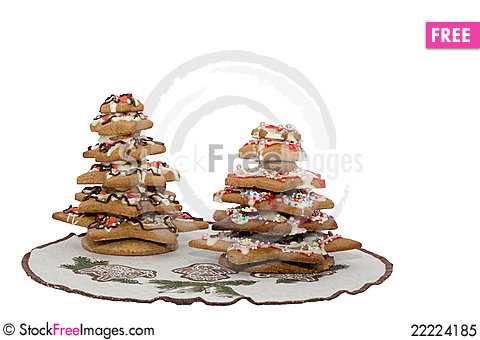 Free Gingerbread Christmas Trees Royalty Free Stock Photo - 22224185