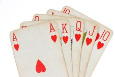 Free Royal Flush Stock Photography - 22221682
