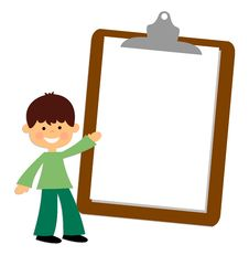Free Smiling Boy Showing A Blank Paper Stock Images - 22224584