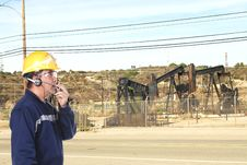 Free Oil Field Worker Stock Photography - 22224702