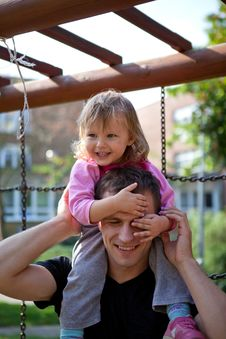 Free Father And Daughter Having Fun Stock Photo - 22226600