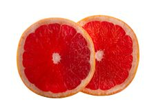 Two Slices Of Grapefruit Stock Image
