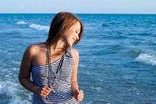 Young Pretty Girl Smiling Royalty Free Stock Photos