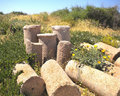 Free Pile Of Broken Roman Columns Royalty Free Stock Photos - 22233808