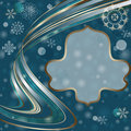 Free Christmas Dark Blue Frame Royalty Free Stock Photos - 22233858