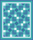 Free Blue Green Quilt Stock Photo - 22239440