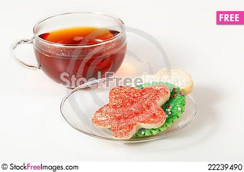 Free Christmas Cookies And Tea Stock Photo - 22239490