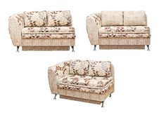 Free Sofa With Fabric Upholstery Royalty Free Stock Photography - 22231437