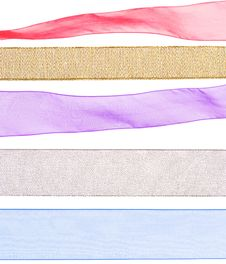 Free Colorful Ribbon Textures For Decorating Royalty Free Stock Images - 22231519