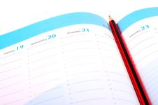 Free Pencil On A Calendar Stock Photography - 22231542