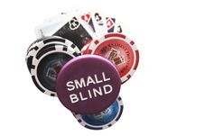Free Poker Chips With Small Blind Stock Photography - 22231952