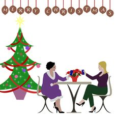 Free Ladies Christmas Luncheon Stock Photo - 22234070