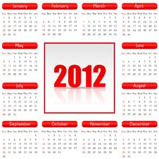 Great Calendar For 2012 Royalty Free Stock Image