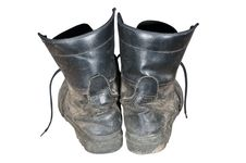 Free Old Combat Boots Stock Photography - 22236392