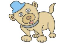 Puppy With Blue Hat Royalty Free Stock Photo