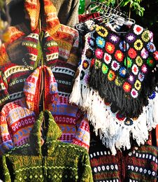 Free Nepal Village Stall Selling Knitwear Stock Images - 22240994