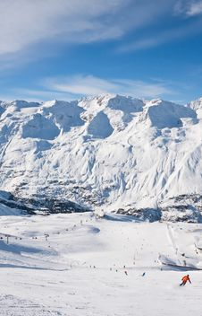 Free Ski Resort  Obergurgl. Austria Royalty Free Stock Photo - 22241455