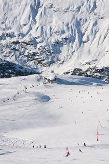 On The Slopes Of Obergurgl. Austria Royalty Free Stock Image