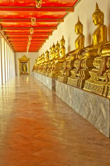 The Way To Peace. / Wat Pho Royalty Free Stock Images