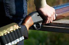 Free Shotgun In Hand Hunter Stock Images - 22242054