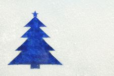 Free Christmas Tree On A Frozen Window Stock Photography - 22243042