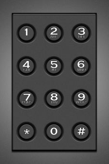 Free Gray Button Mobile Phone Royalty Free Stock Images - 22244779